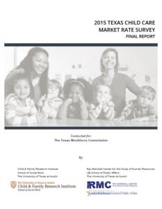 2016 Texas Child Care Market Rate Survey