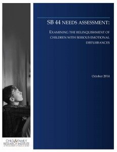 SB 44 Needs Assessment: Examining the relinquishment of children with serious emotional disturbances