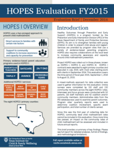 Hopes Evaluation Fy2015 Report Brief