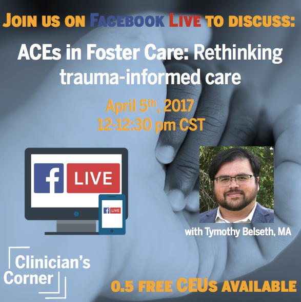 Sign Up For Our First Clinician's Corner Fb Live Session!