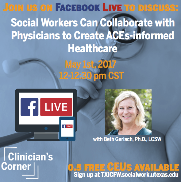 Sign Up For Clinician's Corner Facebook Live Session: May 1st, 2017