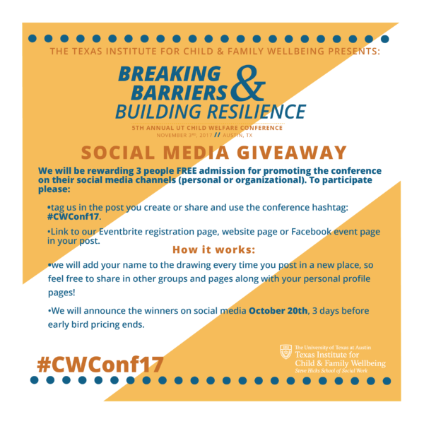 cwconf17 social media giveaway