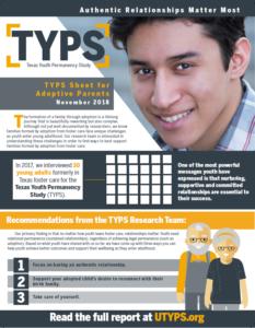 Texas Youth Permanency Study TYPS Sheet