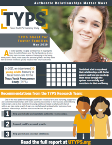Texas Youth Permanency Study Sheet Foster Families