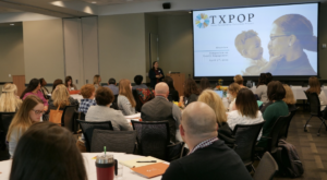 Monica Faulkner speaking at TXPOP conference