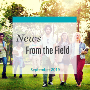 News From The Field: September 2019