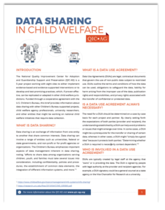 Data Sharing in Child Welfare