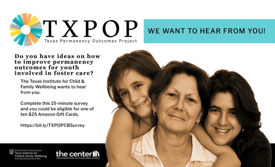 TXPOP capacity building survey banner