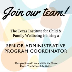 Available Position: TFYHI Senior Administrative Program Coordinator