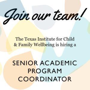 Available Position: Senior Academic Program Coordinator
